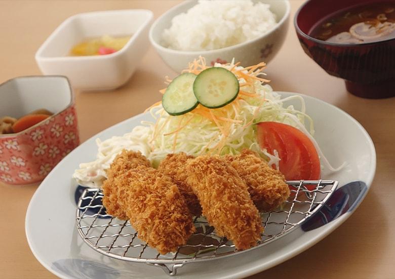 広島県カキフライ定食
