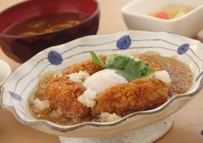 広島県カキフライのみぞれ煮定食