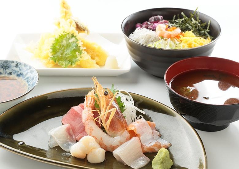 海鮮盛り天ぷら定食